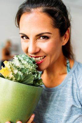 Salat schmeckt